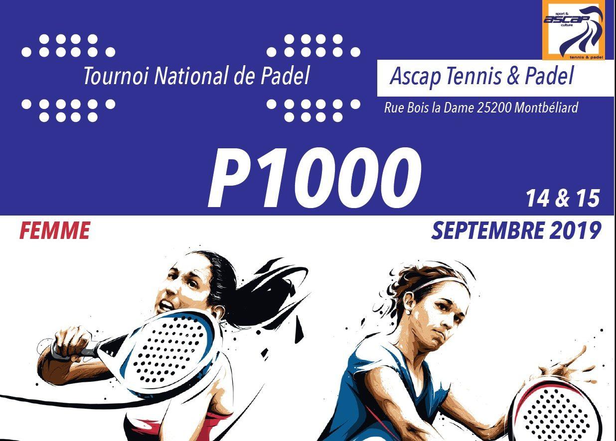 Open dames ASCAP Montbéliard – P1000 – 14 et 15 septembre