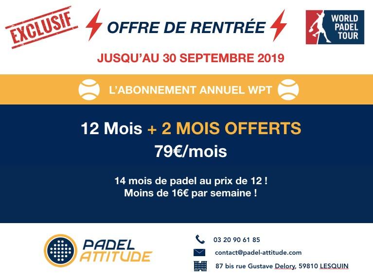 Padel Attitude : Du padel en illimité pour – de 30€ / mois !