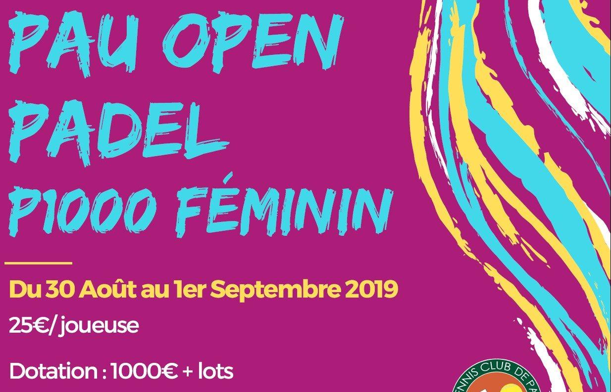 Le Pau Open Padel – P1000 Féminin, sedémarque …