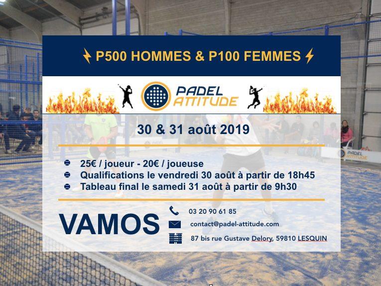 Padel attitude – P500 HOMMES et P100 FEMMES – 30/31 AOÛT