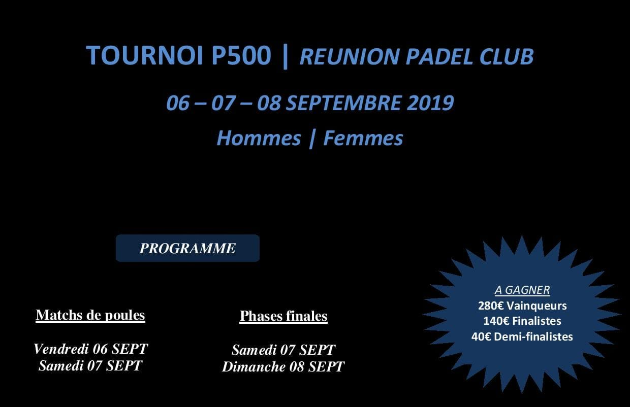 Open Réunion Padel Club – 6 au 8 septembre