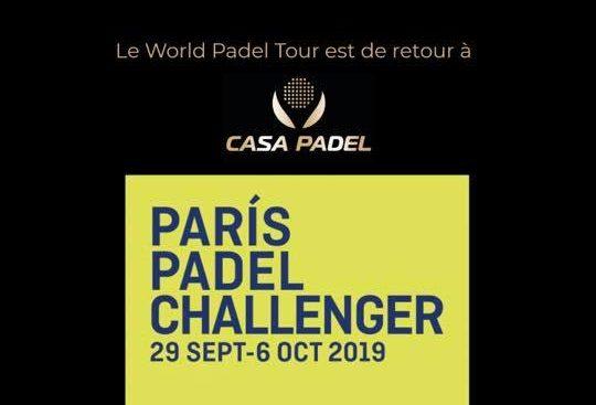 Paris Padel Challenger – Du 29 septembre au 6 octobre 2019