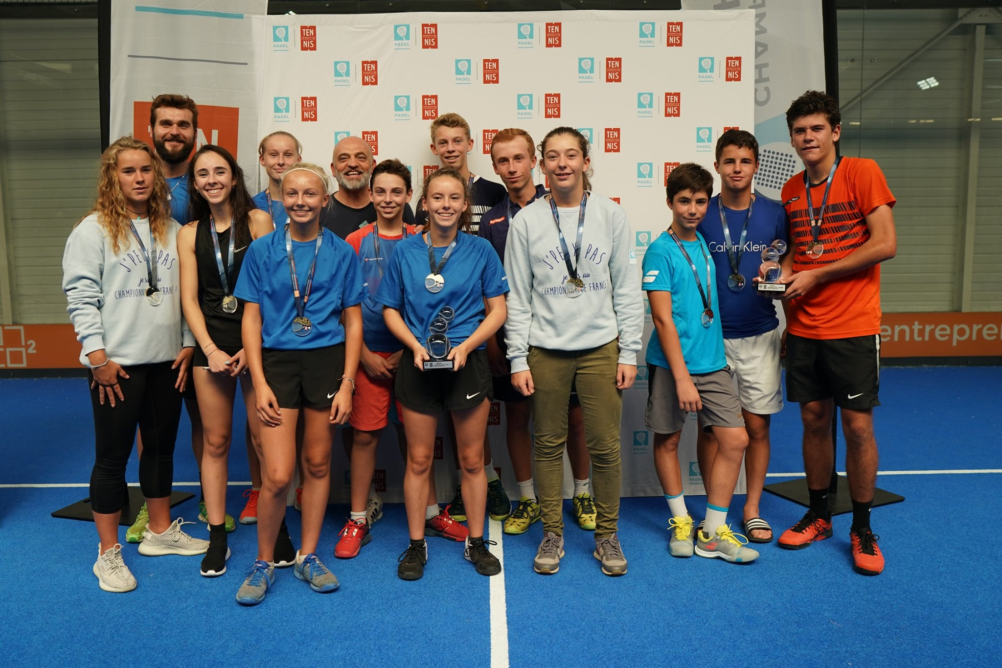 Campeones de Francia de Haut-de-France y Occitanie Padel Juventud 2019