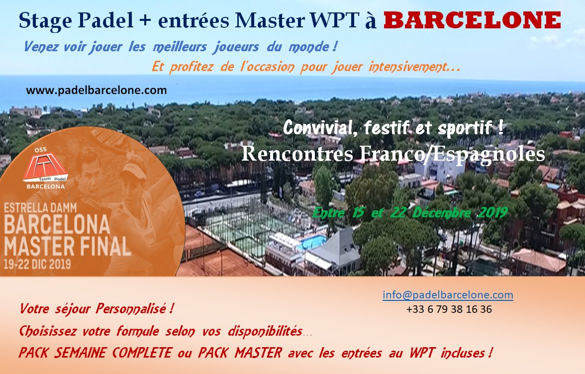 Stage padel + Master WPT a Barcellona, ti piace?