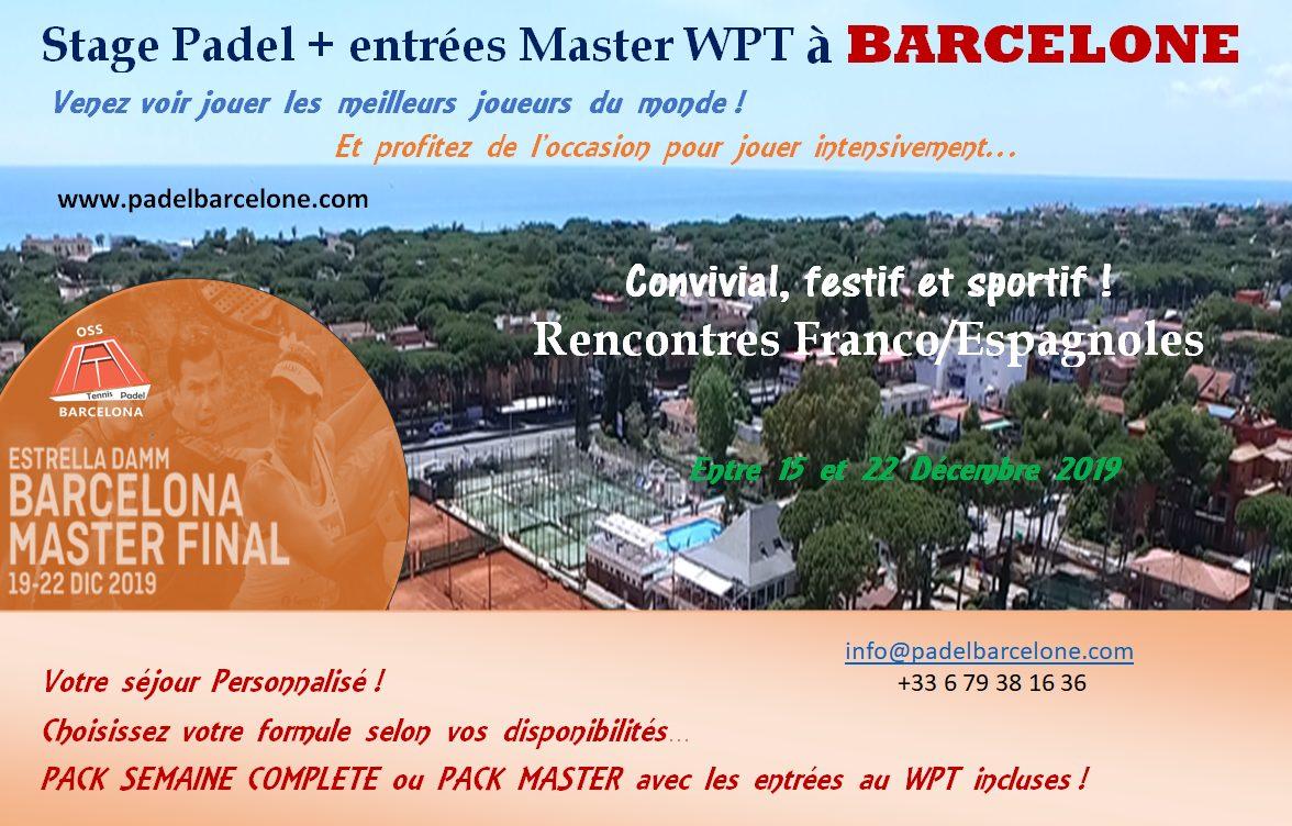 Stage padel + Master WPT à Barcelone, ça vous tente ?