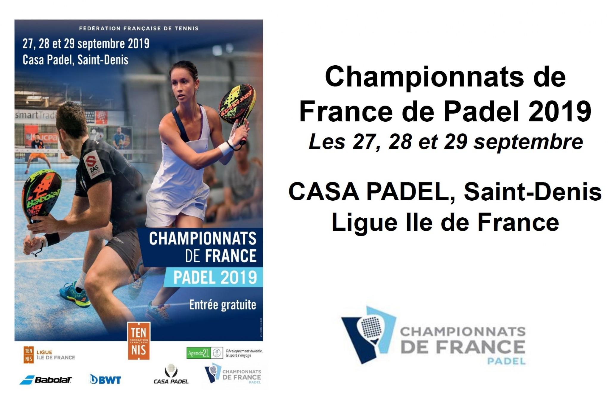 Campionati francesi padel 2019 - Come qualificarsi