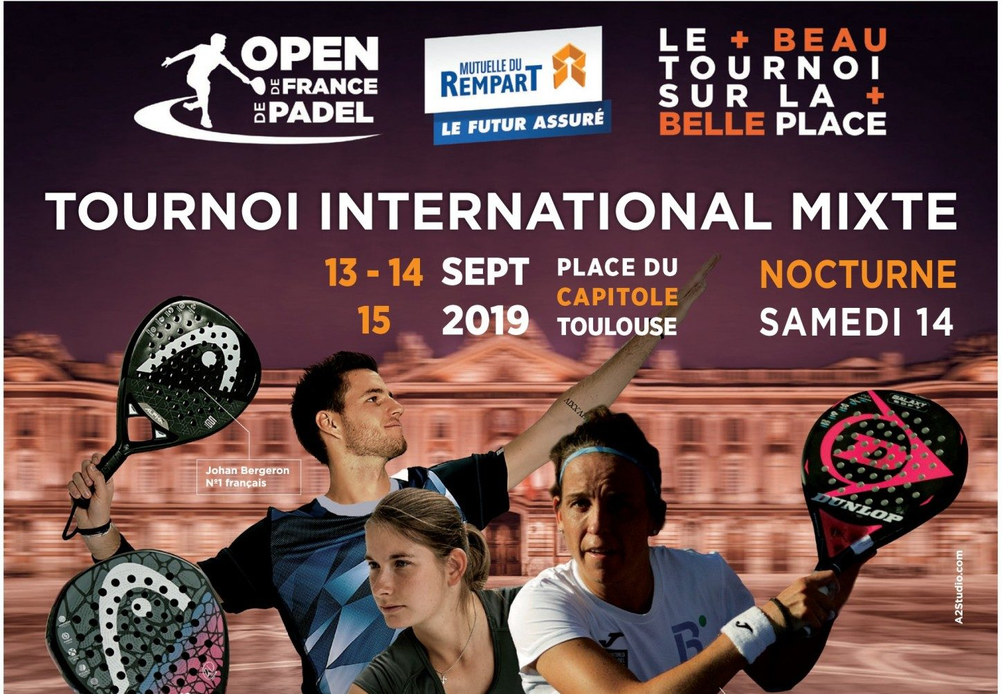 Tournoi International Mixte : 13 au 15 septembre