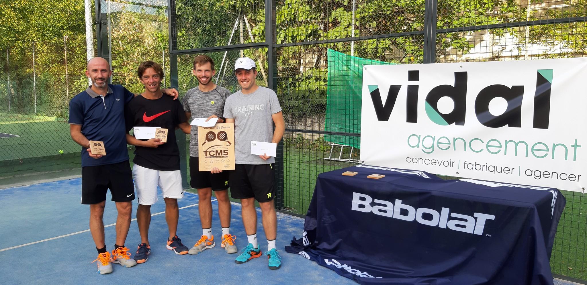 Titanic final won by Joulot / Sanchez at the Open TCM5 - Vidal Agencement