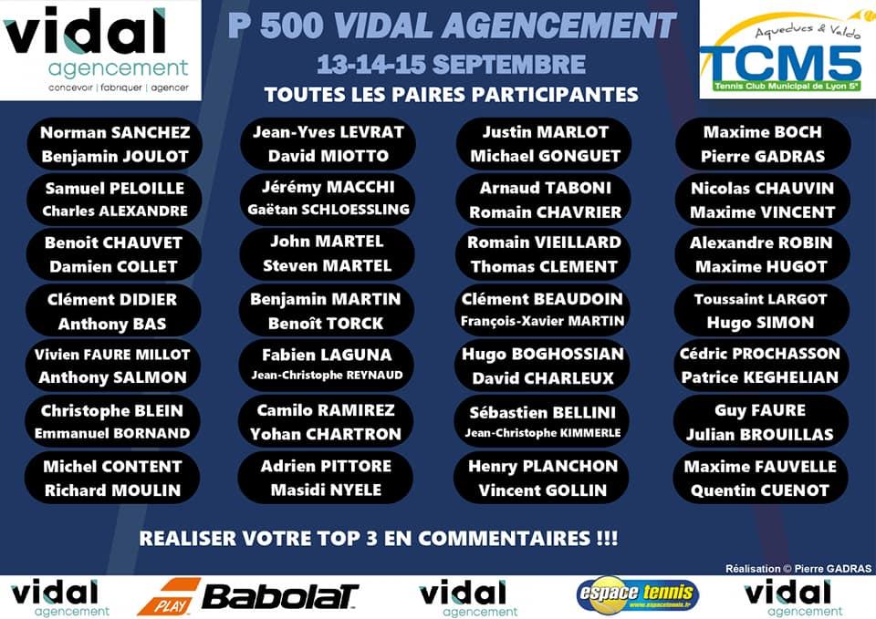 P500 Vidal Agencement TCM5: Le tournoi entre fous !