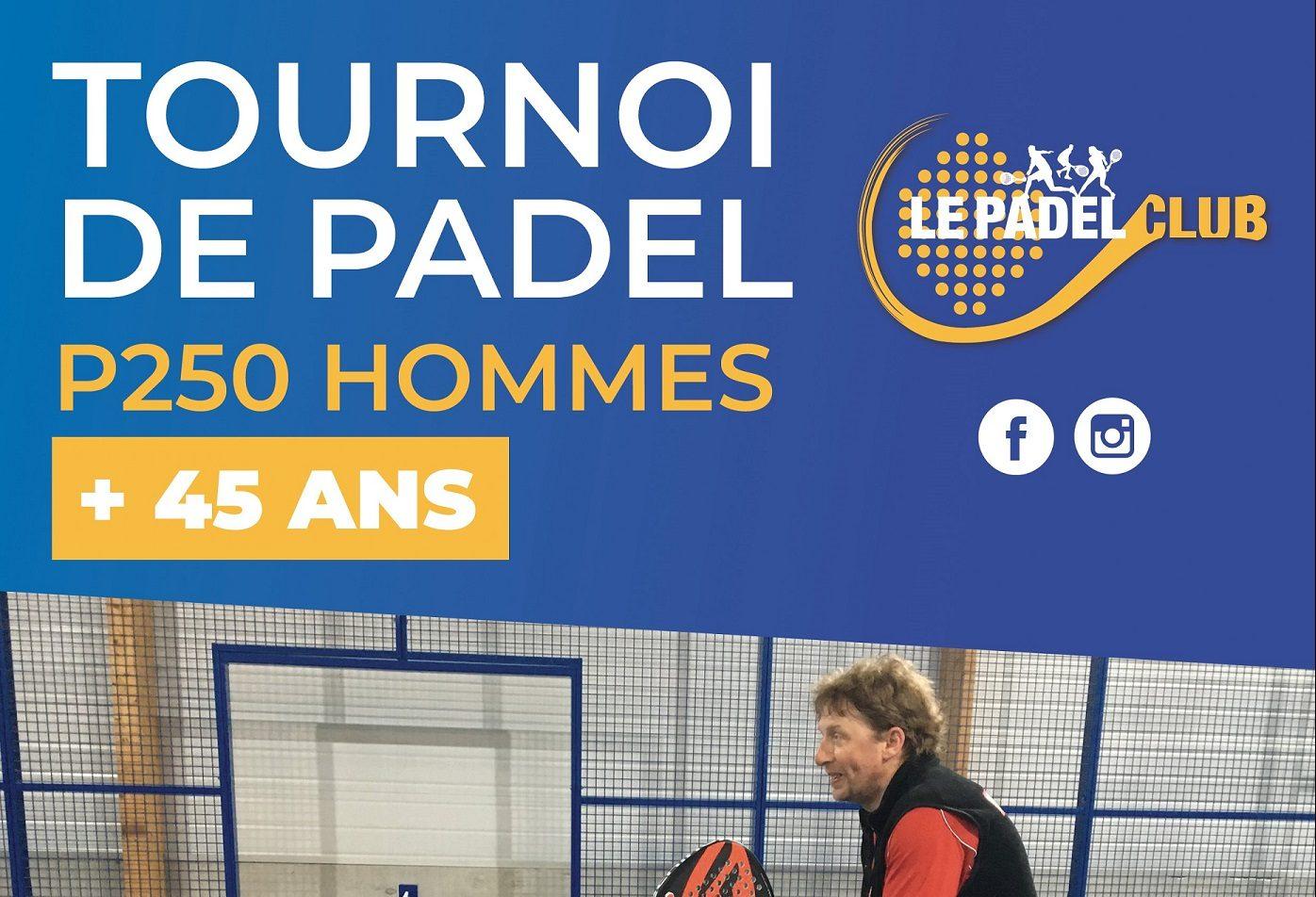 Tournoi de padel +45 ans au Padel Club
