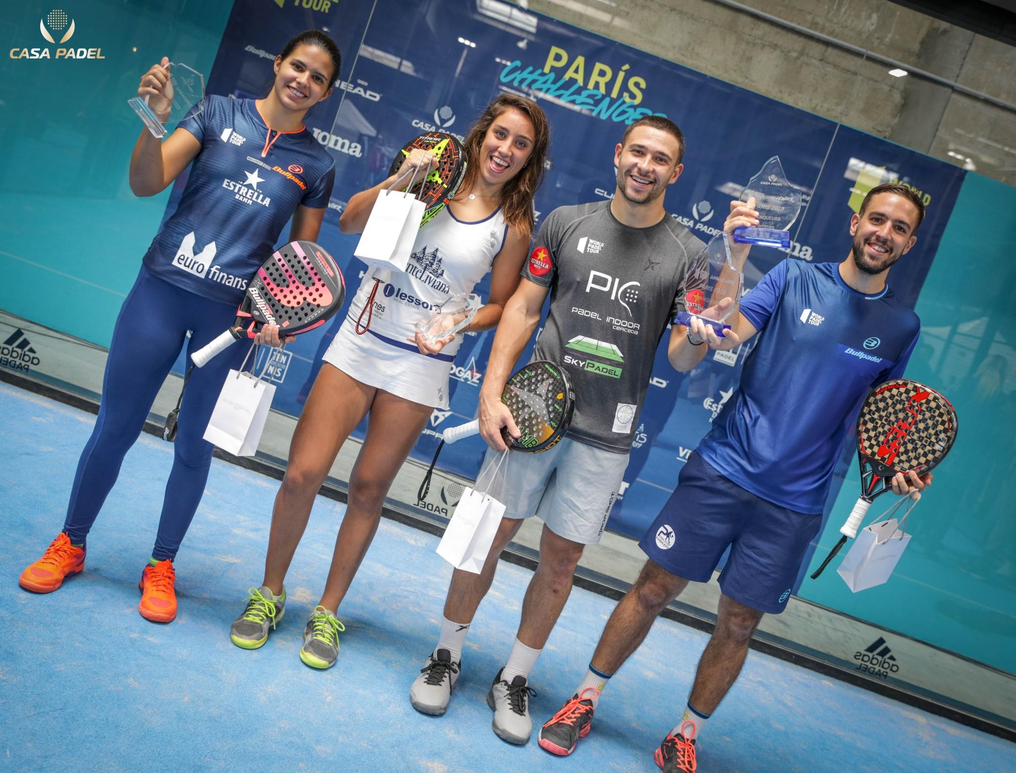 Vainqueurs du WPT PARIS CHALLENGER 2019 : Gonzalez / Brea et Capra / Campagnolo