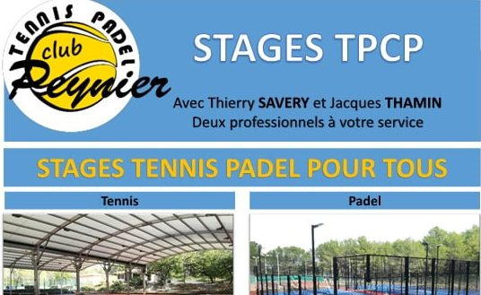 Stage de padel au TPC Peynier