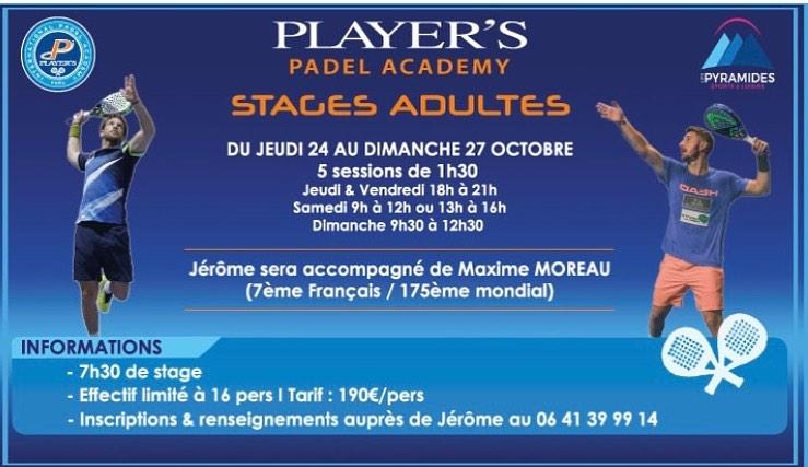 ステージ Padel -Club des Pyramides- 24月27日からXNUMX日