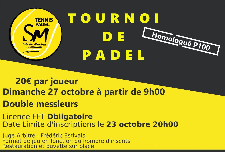 Åbne Padel Stade Montois - p100 mænd - 27. oktober