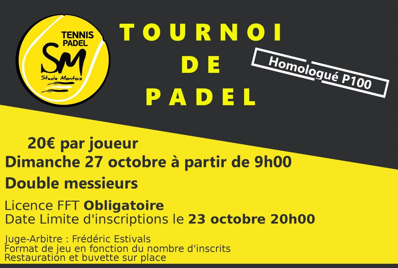 Open Padel Stade Montois – p100 messieurs – 27 octobre