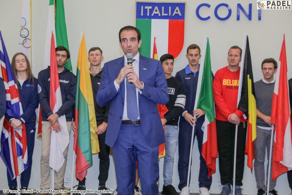 """Luigi Carraro : """"En Italie, jouer au padel à 2 vs 2 autorisé"""""""