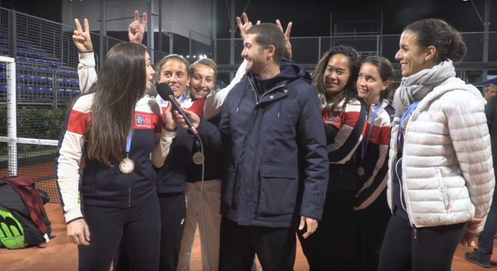 Interview des bleues – Championnes d'Europe de padel 2019