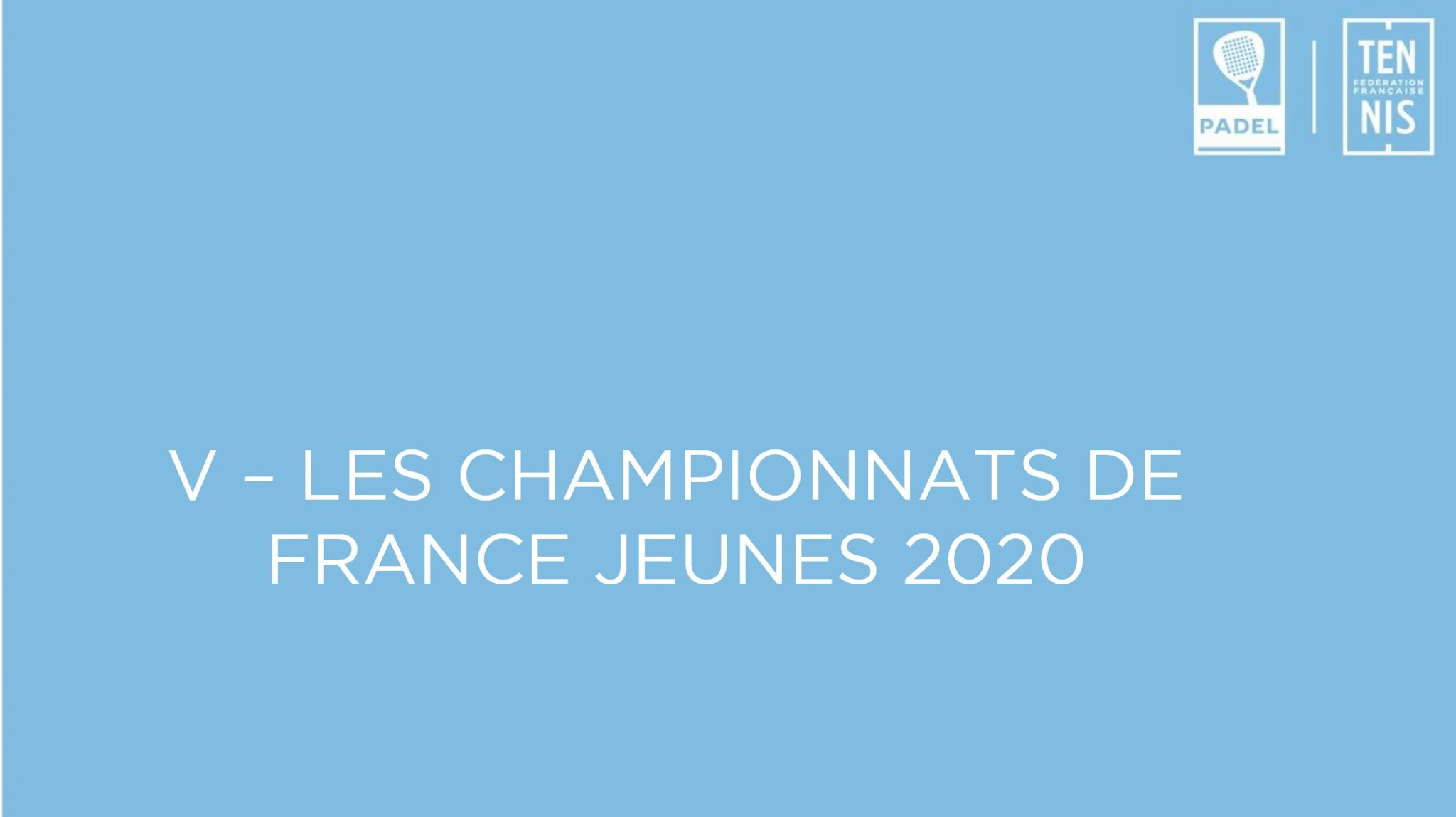 2020 French Youth Padel Championships