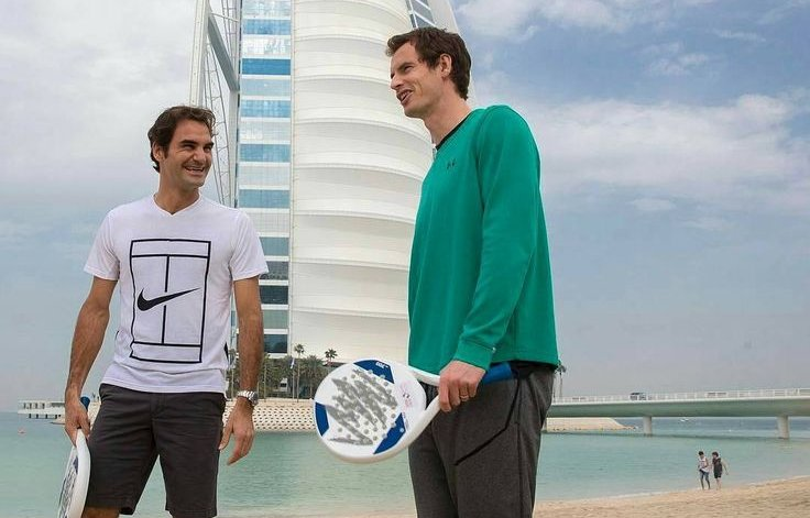 Federer Murray world padel tour