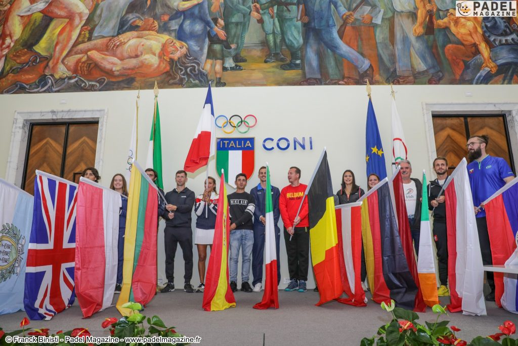 Italie padel drapeaux