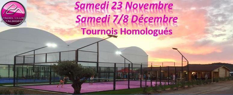 Les tournois du Padel Club Albigeois