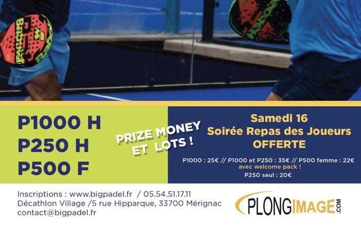 Finale Big Padel Bordeaux Mérignac Masters P1000 PLONGIMAGE – Trancart / Leygue vs Quillet / Romanowski