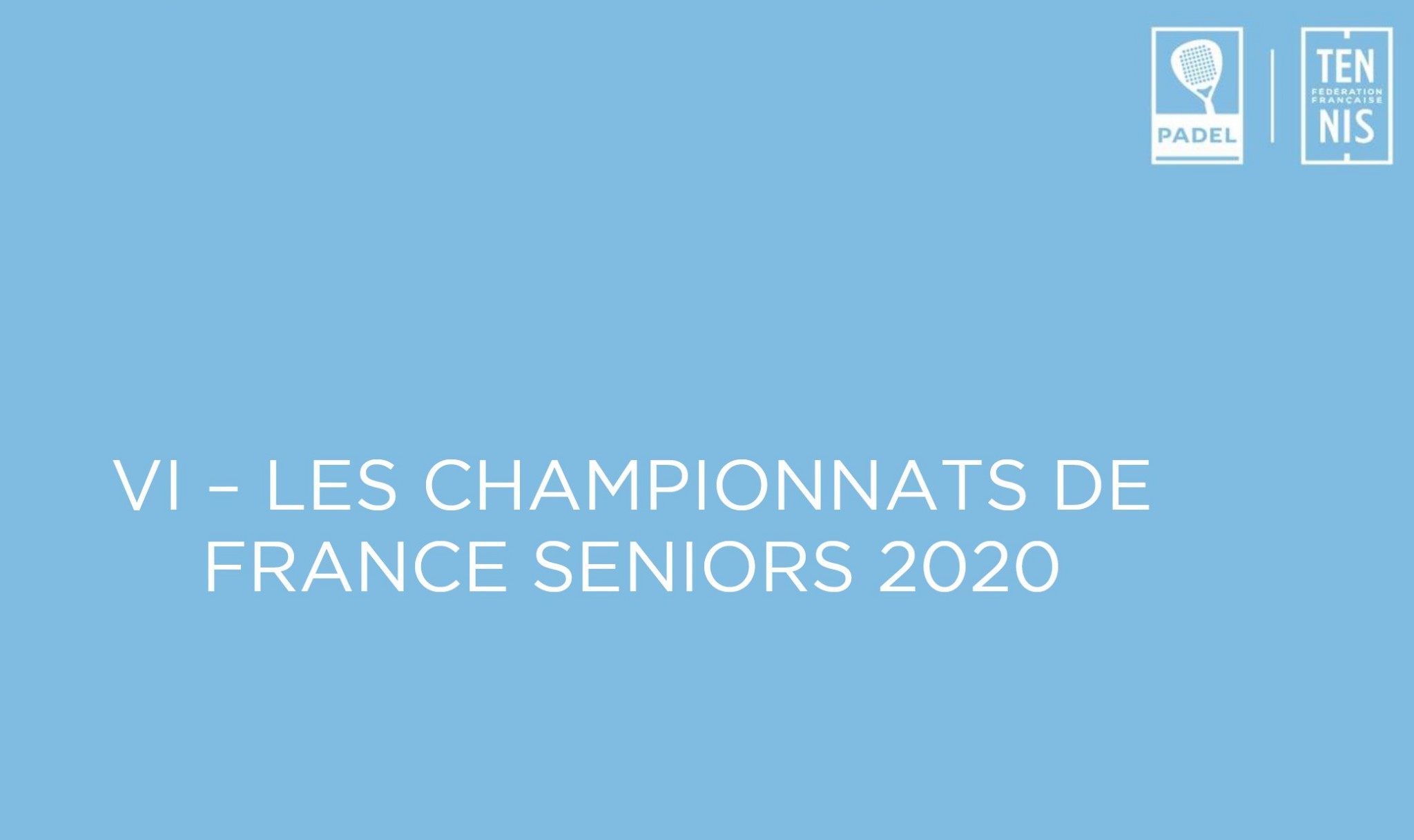 2020 French Senior Padel Championships