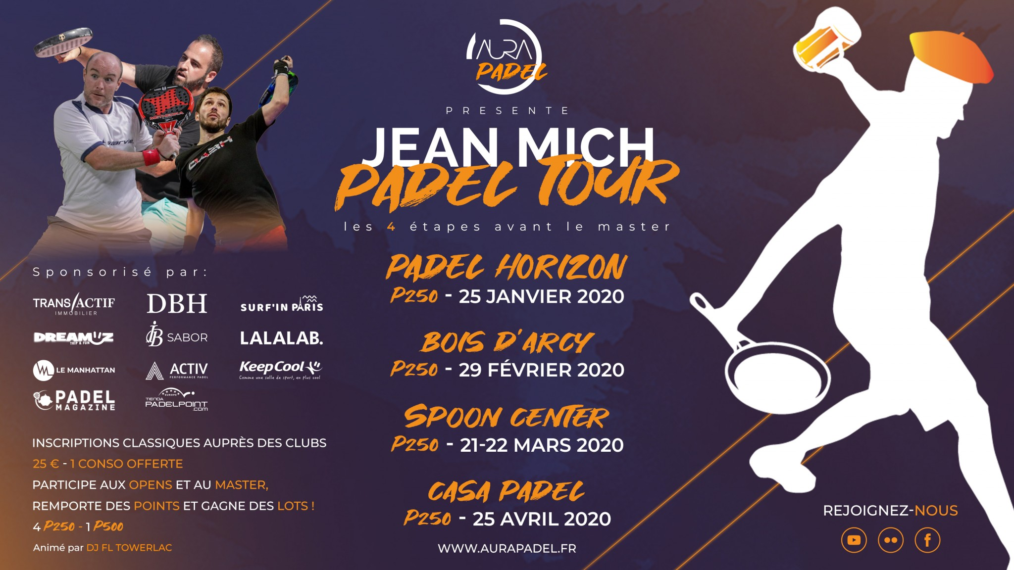 Programme du Jean Mich Padel Tour 2019