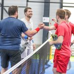joy end of match padel fft padel round victory 4 players