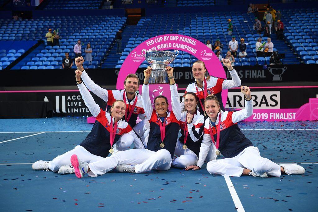 el equipo femenino de la Copa Fed de Francia