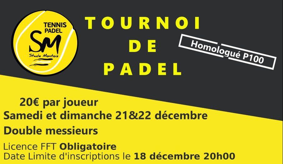 Padel Stage Montois : Tournois de padel P100