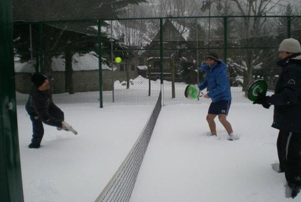 winter snow padel