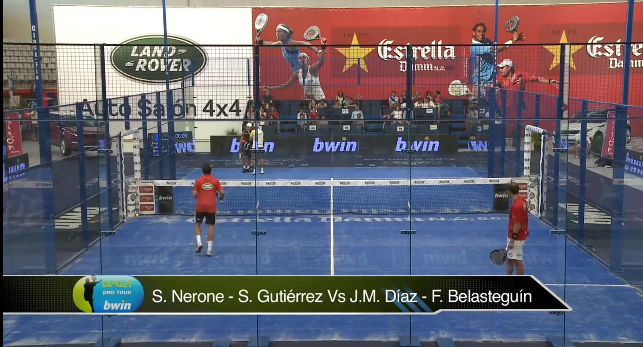Padelpro Tour GIjon 2012 finale :S. Nerone – S. Gutiérrez Vs J.M. Díaz – F. Belasteguín