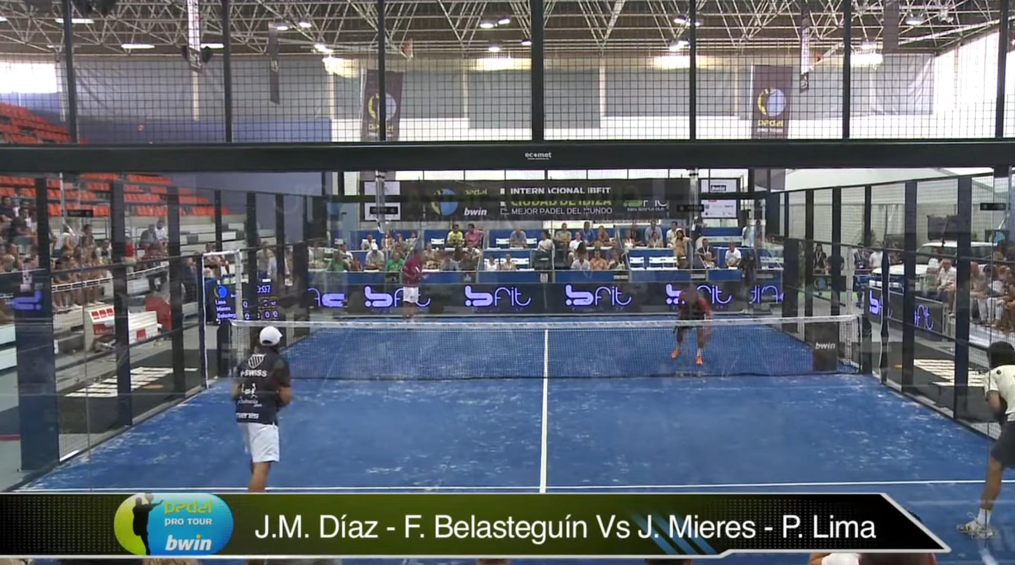 Finale - JM Diaz - F. Belasteguin gegen J. Mieres - P. Lima - Padelpro Runde ibiza 2012