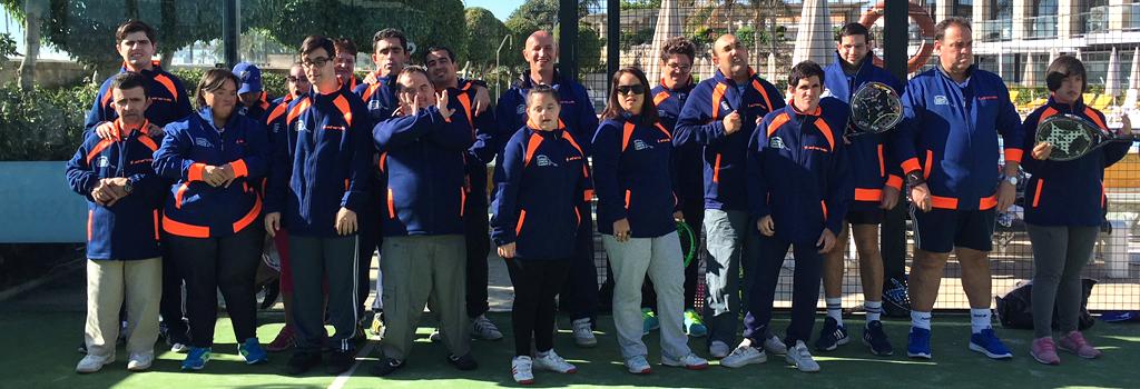 palas para todos handicapped | beneficial tournament poster palas para todos