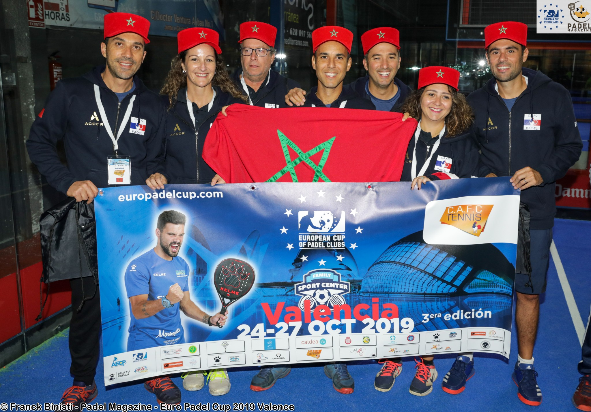 Le Maroc remporte son premier match international de padel