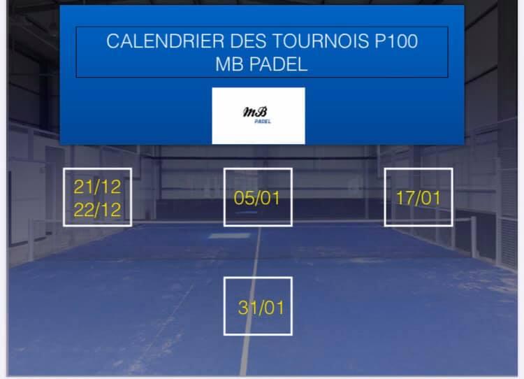 MB PADEL : 4 tournois de padel 2019 /2020
