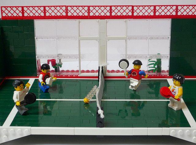 LEGO en mode padel