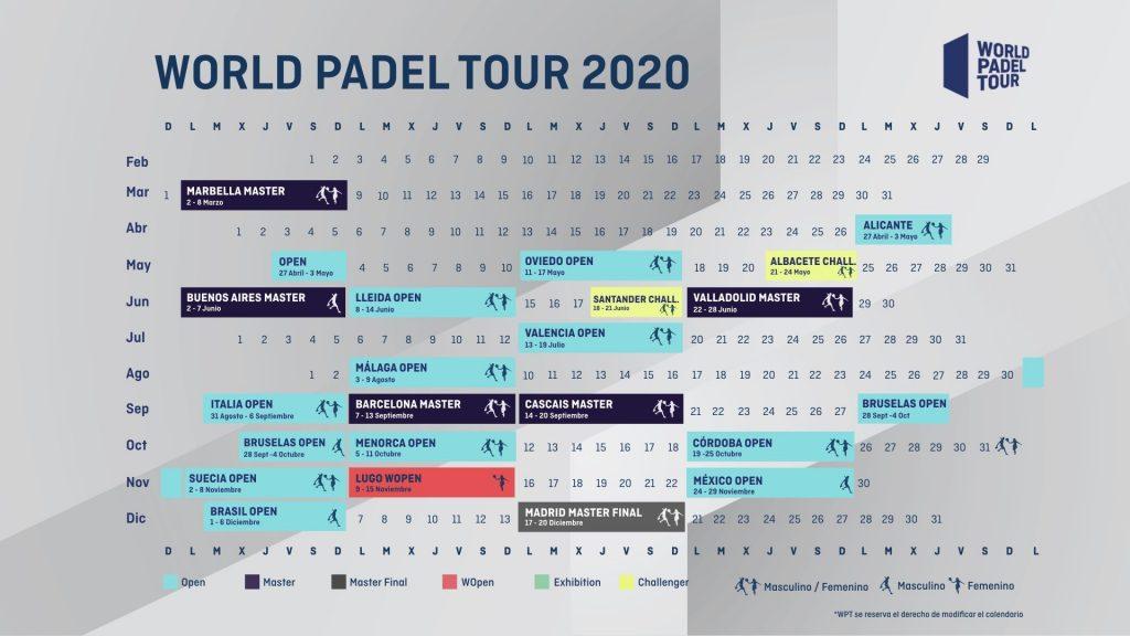 Le nouveau calendrier du World Padel Tour