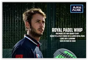 Royal Padel Whip : l´absorption des vibrations