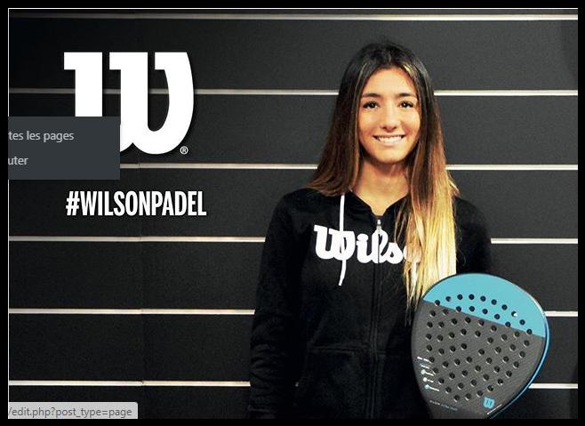 Nicole Traviesa hos Wilson Padel