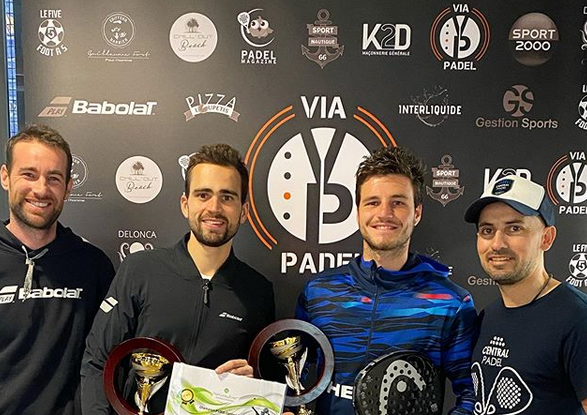 Bergeron / Blanqué: Winner of the P1000 VIA PADEL à Padel Central Perpignan