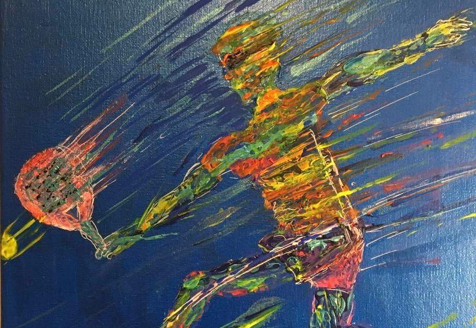 L'art sublime le padel avec l'artiste peintre : Ric'heart