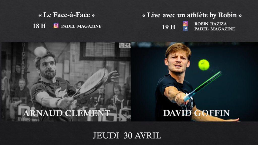 Clément et Goffin : Fans de padel en LIVE