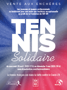 French tennis mobilizes for caregivers through an auction