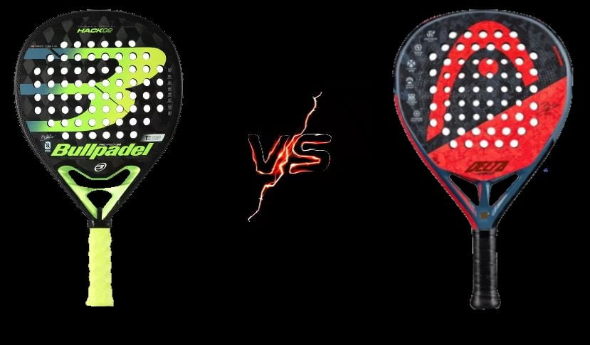 Bullpadel Hack 02 VS Head Delta Hybrid