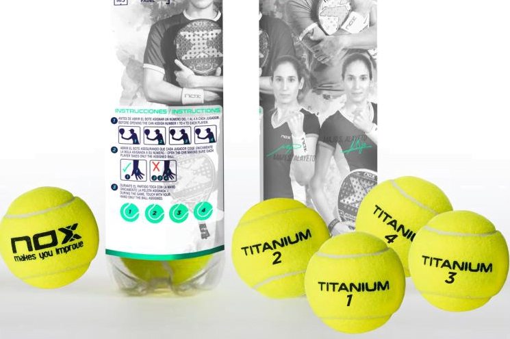 NOX : la BALLE de padel anti-contamination
