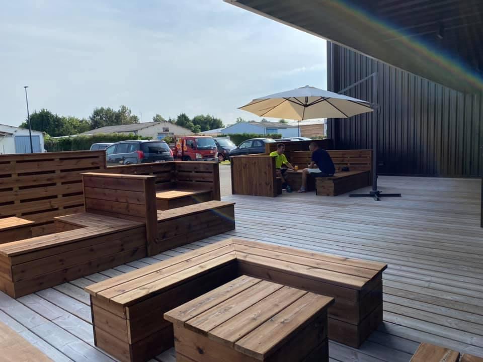 Nouvelle terrasse à Padel Touch !