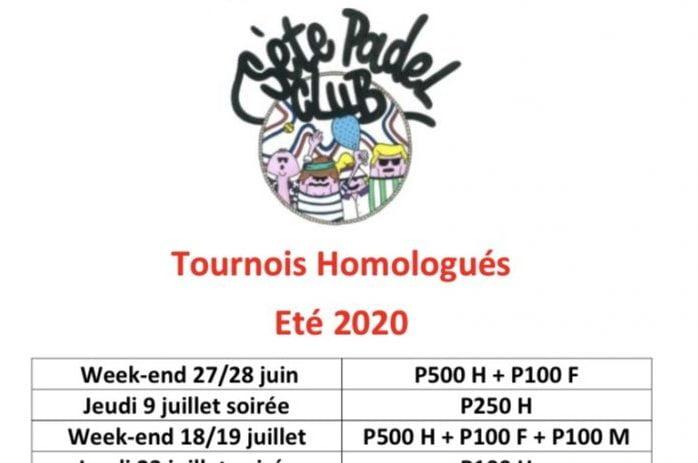 Sète Padel Club : Tournois Juillet à septembre 2020