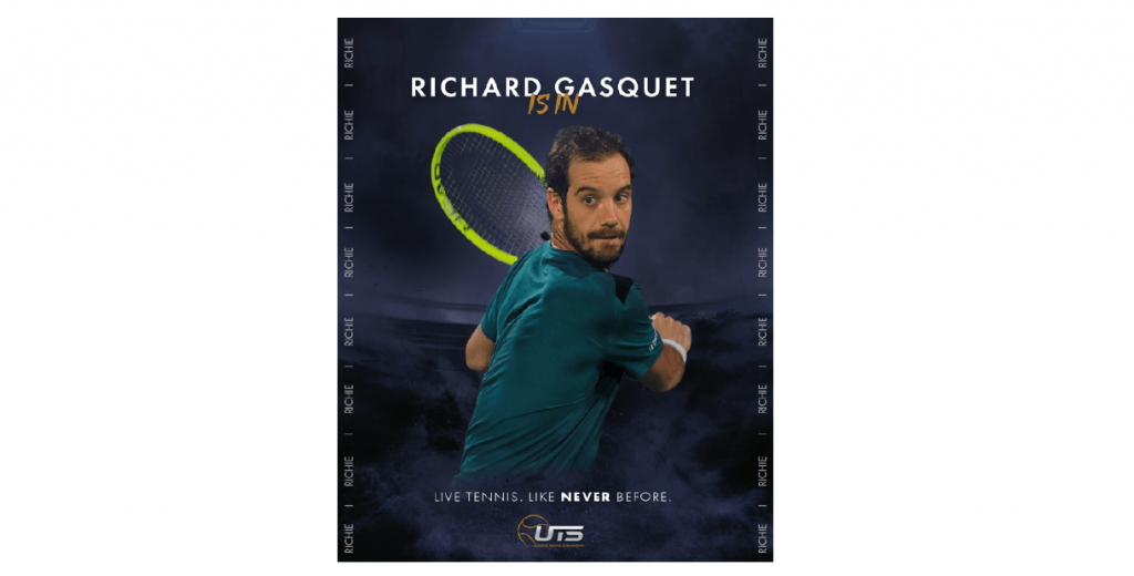 RICHARD GASQUET GÅR MED PATRICK MOURATOGLOU UTS TOURNAMENT